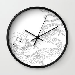 "Chineese ""Lung"" Dragon Wall Clock"