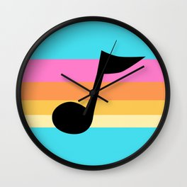 Mabel Music Note Wall Clock