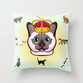 THE CAT KING Kitty Cat Throw Pillow