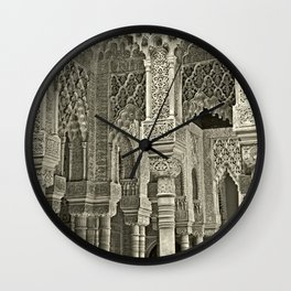 Court of the Lions; Alhambra, Spain Wall Clock