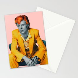 pinky bowie 2 Stationery Cards