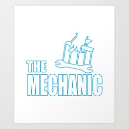 The mechanic puppetry Pate Lustig Art Print