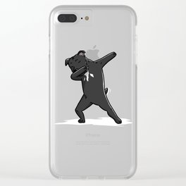 Funny Dabbing Staffordshire Bull Terrier Dog Dab Dance Clear iPhone Case