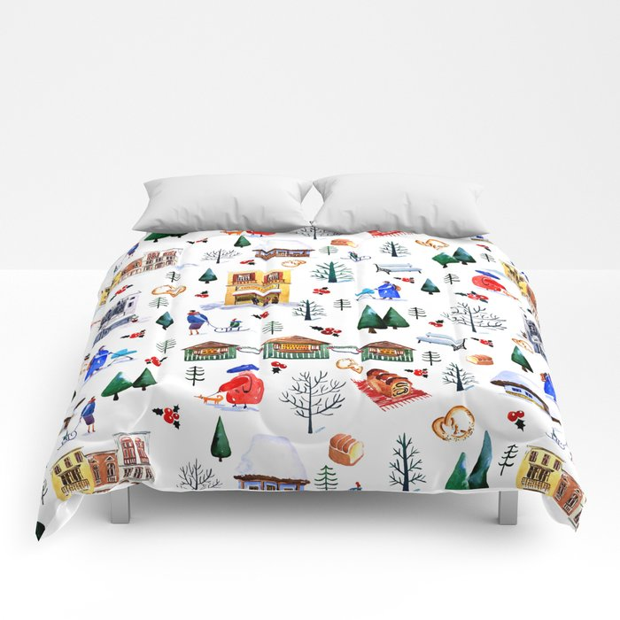 Winter in the City Comforters