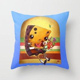 Spongebob Squarepants and f(r)iends Throw Pillow