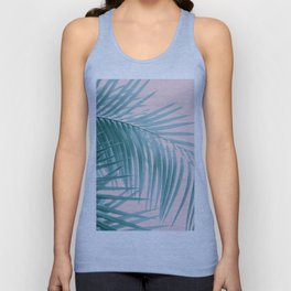 Palm Leaves Blush Summer Vibes #3 #tropical #decor #art #society6 Unisex Tank Top