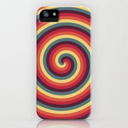 Vibrant Helicoids Large iPhone Case
