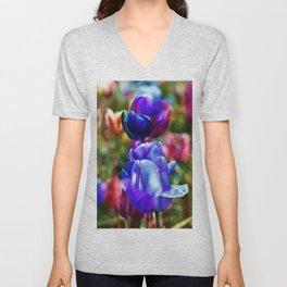 A Floral Dream of Spring Unisex V-Neck