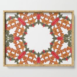 Embroidered Pattern Serving Tray