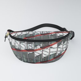Abstract Red Geometry in Berlin Fanny Pack