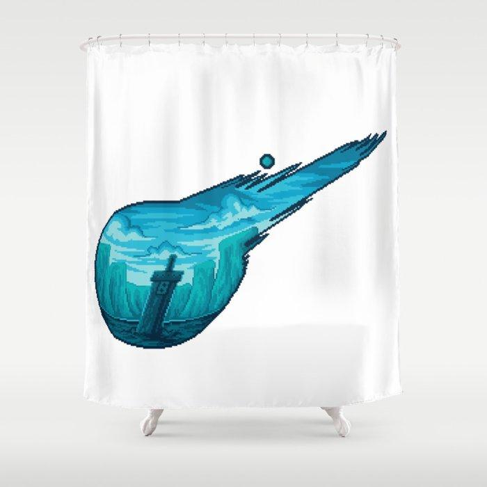 Final Fantasy VII Meteor Shower Curtain By Erien