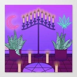 Ultraviolet Temple Canvas Print