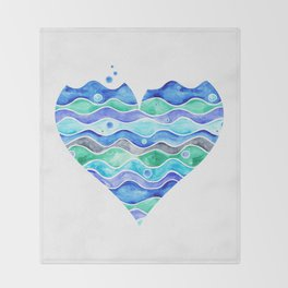 A Sea of Love (white) Throw Blanket