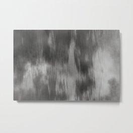 Fusion Abstract Watercolor Blend Pantone Pewter / Fluid Art Ink Metal Print