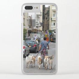 Dogwalker Clear iPhone Case