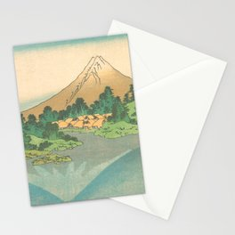 Reflection in Lake at Misaka in Kai Province, Thirty-six Views of Mount Fuji by Katsushika Hokusai Stationery Cards