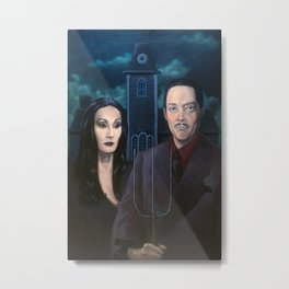 Addams Family Gothic Metal Print