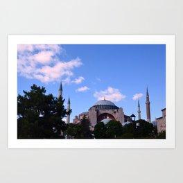 An Afternoon in Hagia Sophia (Aya Sofia, Istanbul) Art Print