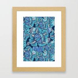 blue winter cabbage Framed Art Print