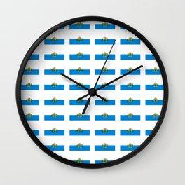 flag of san marino -Sammarinese, Dogana,Serravalle,italian,italy,microstate,Mediterranean Wall Clock