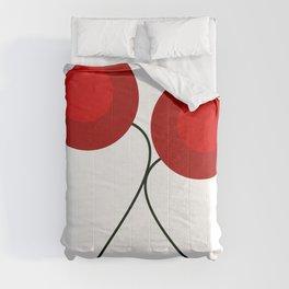Dancing abstract tulips Comforters