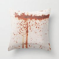 sonic Throw Pillows featuring Sonic by Nigel Williams