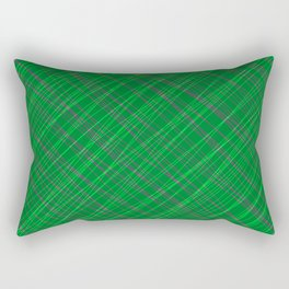 Wicker ornament of their green threads and blue intersecting fibers. Rectangular Pillow