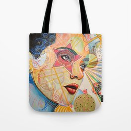 Abstract Art Female Women Portrait Painting ...Honestly Speaking Tote Bag
