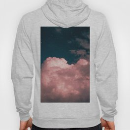Pink night clouds Hoody