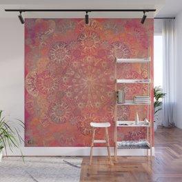 """Coral & Rosewood Mandala (pattern)"" Wall Mural"