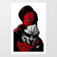 mf doom Art Prints featuring MF DOOM 2 by Derick Skuds Mckinley Jones