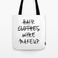 makeup Tote Bags featuring Makeup by I Love Decor