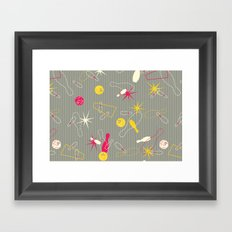 Bowling Pinstripe Framed Art Print
