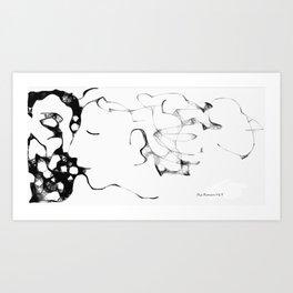 The Kiss (070413a) Art Print
