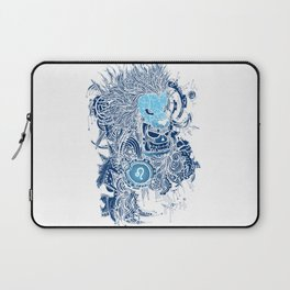 Leo Skull Zodiac Sign For July and August Birth Day Gift Laptop Sleeve