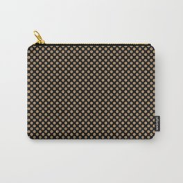 Black and Iced Coffee Polka Dots Carry-All Pouch