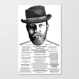 Alfie Solomons Ink'd Series Canvas Print