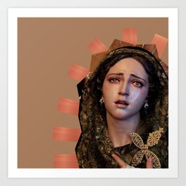 Our Lady of Sorrows. Art Print
