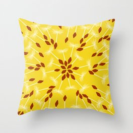 Dandelion Seed Pattern Throw Pillow