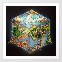 Planet Cubed Art Print
