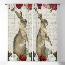 Vintage Easter Bunny Blackout Curtain