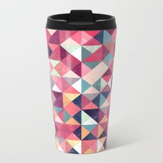 Lovely Geometric Background Metal Travel Mug