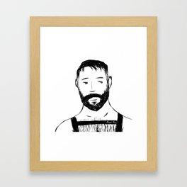 Beard Boy Harness 1 Framed Art Print