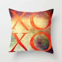 xoxo Throw Pillows featuring XoXo by Fine2art