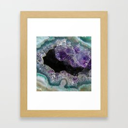Crystal Cavern Framed Art Print