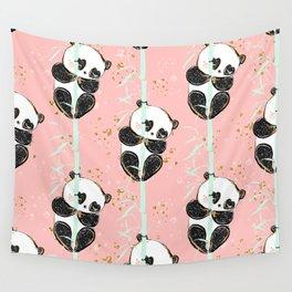 Panda Pattern 07 Wall Tapestry