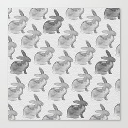 Watercolor Bunnies 1N by Kathy Morton Stanion Canvas Print