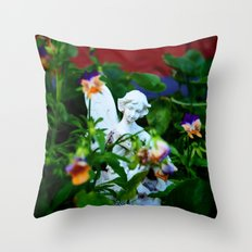 Floral Fae Throw Pillow