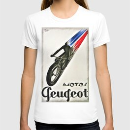 Vintage Geugeot Motorcycle Advertisement Poster T-shirt
