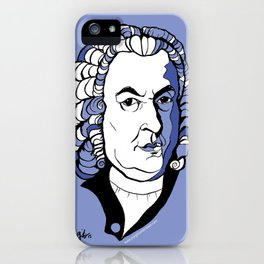 J.S. Bach baroque music  art print classical composer Arioso, Air on a G string,  Brandenburg iPhone Case